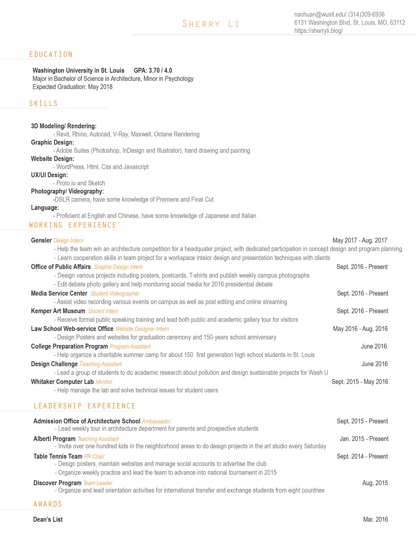 Resume_Sherry Li